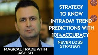 Strategy to know intraday trend prediction with 101%accuracy