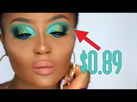 EXTREME GLAM CUT CREASE USING 89 CENT GLITTER