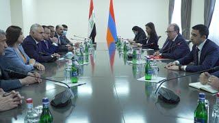 ԱԳ նախարարի պ.կ. Արա Այվազյանի հանդիպումը Իրաքի ԱԺ արտաքին հարաբերությունների մշտական հանձնաժողովի նախագահ Շիրկո Մուհամմադ Սալեհի հետ