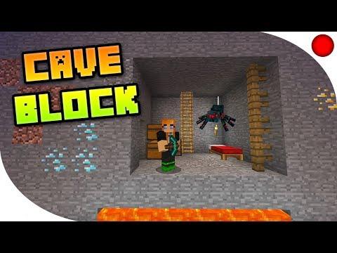 Mój pierwszy CAVE BLOCK | Minecraft BlueMC.pl [Zapis LIVE]