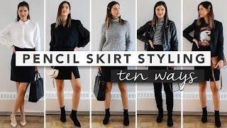 10 Ways to Style a Pencil Skirt - Capsule Wardrobe | by Erin Elizabeth