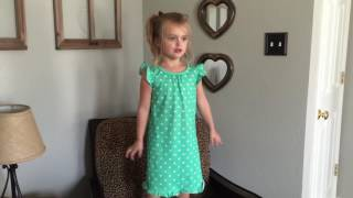 Sassy 4 Year Old Sings Somewhere On a Beach by Dierks Bentley