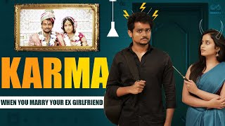 """KARMA - Marrying Your Ex-Girlfriend is a Telugu Comedy WebSeries Featuring Shanmukh Jaswanth & @Sheetal Gauthaman .  Cast:- Shanmukh Jaswanth, Sheetal Gauthaman & Jhakaas pruthvi.  Written & Directed by - Subbu .K  Cinematographer- Kalapavan  Editing :- Pavan Kumar Konte  Sound engineer - Kp Kalidindi  Title and poster designer - Harinath  Executive producer - Sathwik G.Roy  Powered by #Infinitum Network Solutions.  #ShanmukhJaswanth Famously known as """" Shannu"""" is Telugu comedy & Entertainment Youtube Content Creator.   we upload the latest Telugu comedy videos.  This is produced by Infinitum media.  #SheetalGauthaman"""