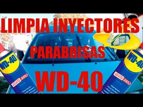 wd40 uso limpia inyectores parabrisas
