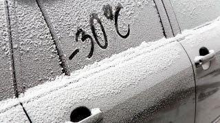 Запуск TOYOTA RAV4 в мороз -30 градусов. Engine starting in winter
