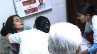 Haryana minister Kiran Chaudhary attacked during campaigning