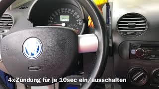 VW Beetle Schlüssel nachmachen mit Fernbedienung