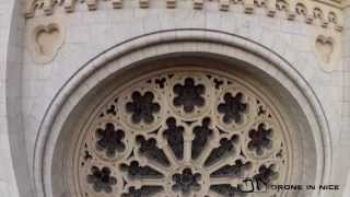 Eglise Notre Dame of Nice fimled (by Drone in Nice - DN)