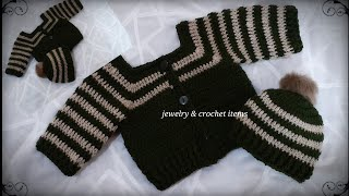 Very Easy To Crochet Baby Cardigan/ Crochet Baby Sweater ( 0-3 Month)