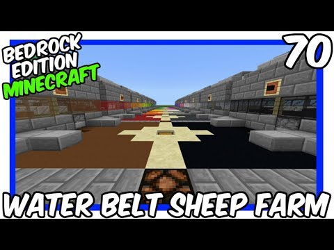 Bedrock Edition Water Belt Sheep Farm Tutorial Minecraft Project
