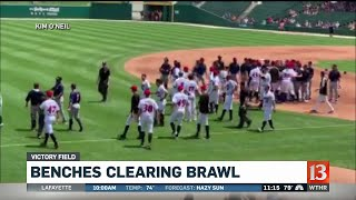 Benches Clearing Brawl At Indians Game