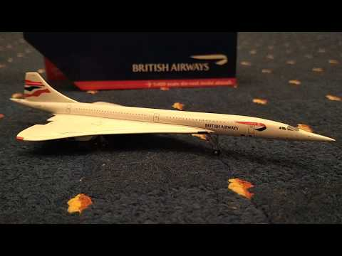 Review for the Gemini Jets British Airways Concorde 1:400 scale die-cast model aircraft