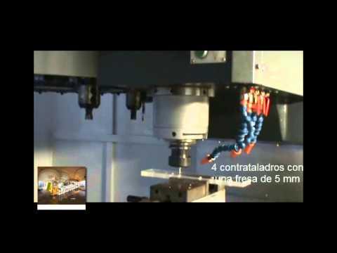 Maquinado CNC barreno con contrataladro