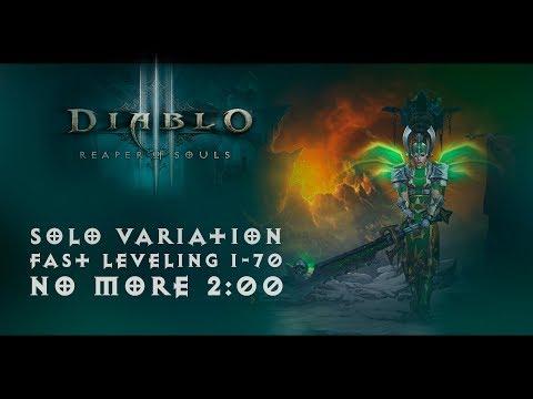Diablo III - Fast leveling 1-70 (Вариация билда для прокачки в соло (Solo - no more 2:00))