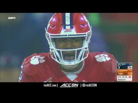 Georgia Tech vs Clemson College Football Condensed Game 2017