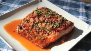 Food Wishes Recipes – Garlic Ginger Salmon Recipe – Grilled Salmon with Garlic