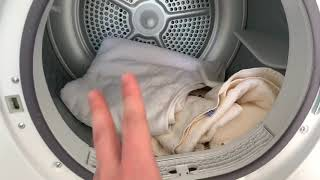 Wäsche und Trockner auffrischen mit einem Trocknertuch (Dufttuch) Kondenswäschetrockner Anleitung