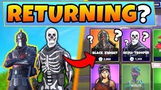 Fortnite Skins: WILL THESE 4 SKIN SETS RETURN? – Answers/Proof ft. Skull Trooper! (Battle Royale)