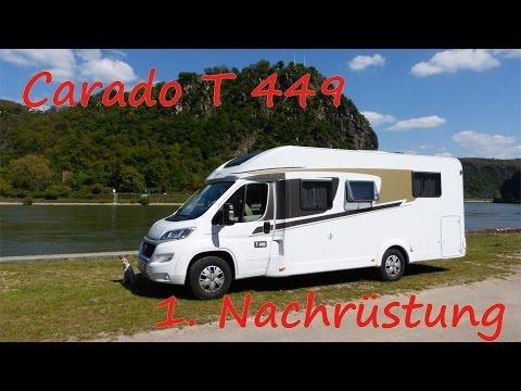 Carado T449 | Nachrüstung Fenster, Plissees, Wechselrichter & Info Gewicht ;-)