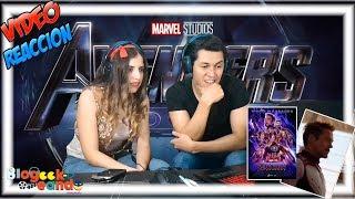 Avengers Endgame Trailer I Video Reacción I BLOGEEKEANDO
