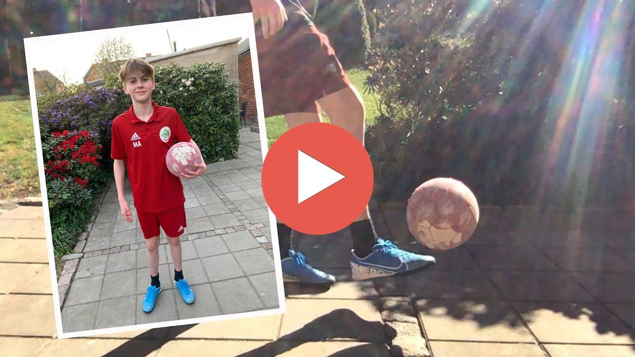 14-årige Mathias jonglerer sig til rekord
