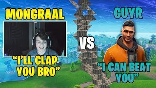 A Viewer challenges Mongraal into a 1v1! Mongraal vs GuyR *INSANE BUILD FIGHTS*