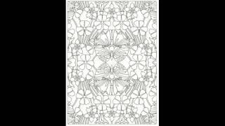 Look Inside: Creative Haven Art Nouveau Patterns Coloring Book