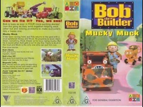 Bob The Builder Mucky Muck 2001 Australian VHS