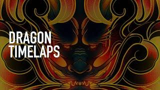 Illustration - Dragon (timelaps)