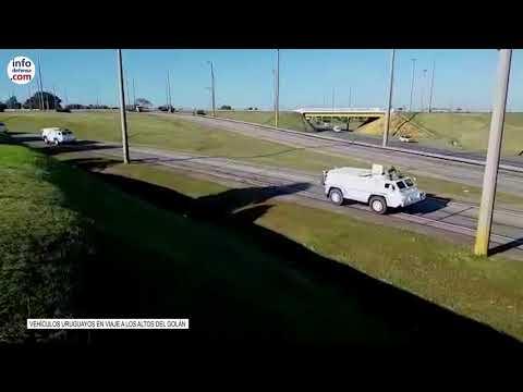 Vehículos uruguayos en viaje a los Altos del Golán