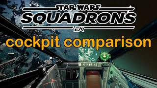 Star Wars Squadrons - Comparing Cockpits in the Games and Movies