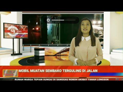 Video of Mobil Box Pengangkut Sembako Terguling Akibat Lubang di Jalan Trans Kalimantan