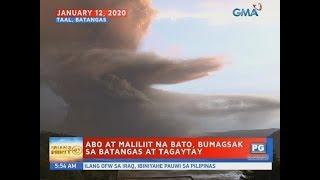 UB: Abo at maliliit na bato, bumagsak sa Batangas at Tagaytay