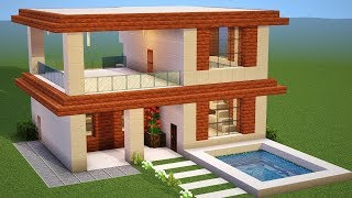 Minecraft Tutorial How To Make A The Ultimate Modern House 2018 2018 Modern House Tutorial Minecraftvideos Tv