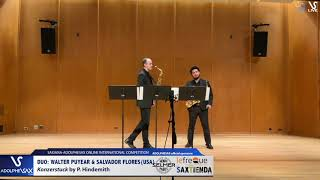 DUO W. PUYEAR & S. FLORES play Konzerstuck by P. Hindemith