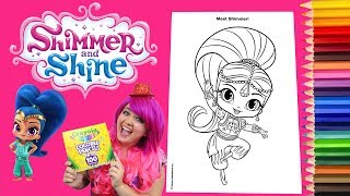 Coloring Shimmer And Shine Book Page Crayola Colored Pencils