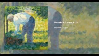 Mazurka in D major, B. 71