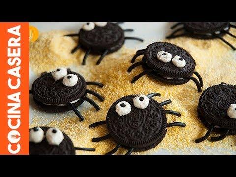 Arañas de Galleta Oreo. Recetas de Halloween