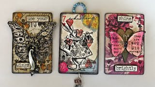 Altered Playing Cards (Mixed Media Napkin Art)