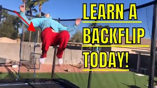 How To LEARN TO DO A BACKFLIP FOR BEGINNERS ON TRAMPOLINE!