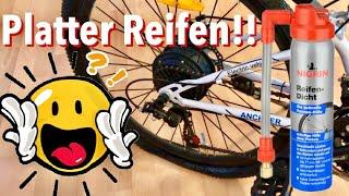 Fahrrad Plattfuß schnell reparieren mit Nigrin Pannenspray - Ob das klappt? Ich teste es :)
