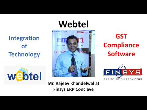 Mr. Rajeev Khandelwal from Webtel Electrosoft at Finsys ERP Conclave