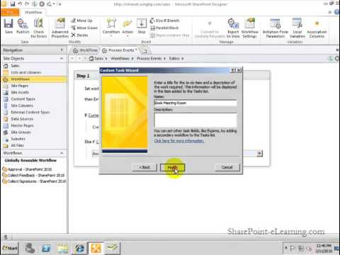 Creating a Workflow on a List using SharePoint Designer 2010 ...