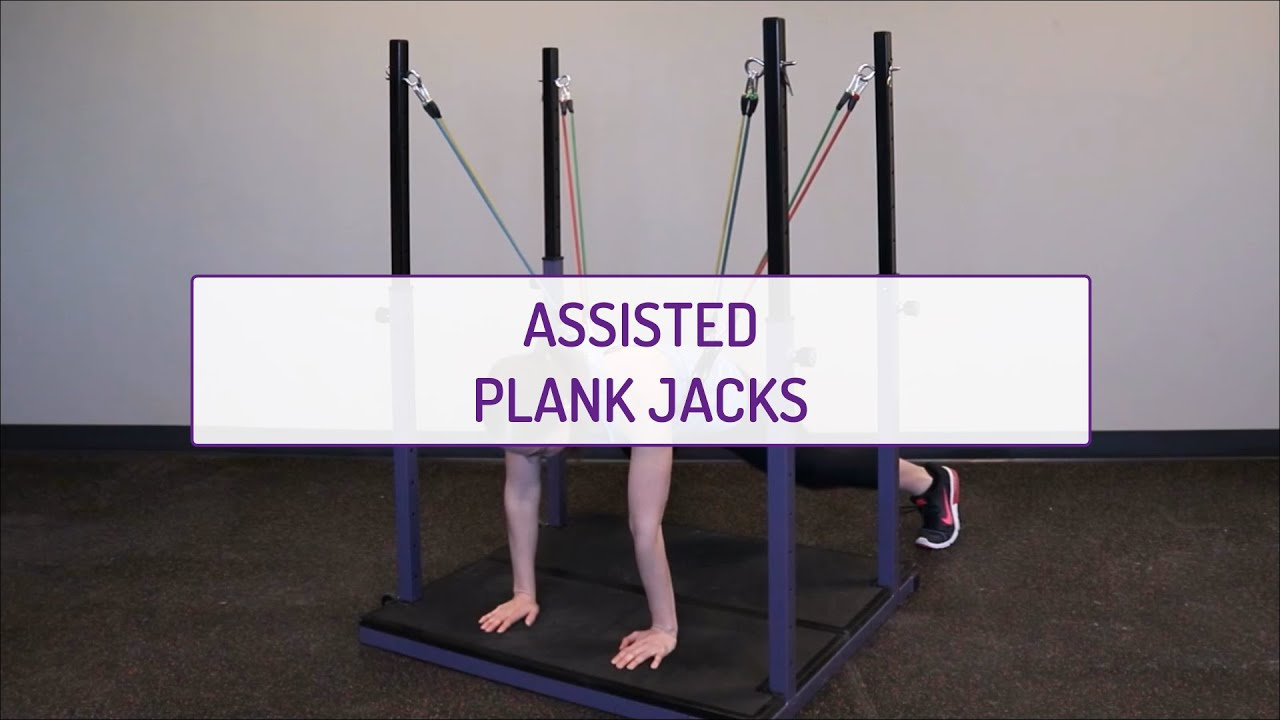Assisted Plank Jacks