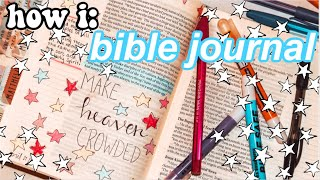 how i BIBLE JOURNAL as a teenager
