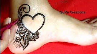 Simple Mehndi Designs For Feet 123vid