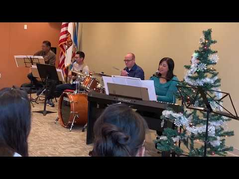 """White Christmas"" (Carpenters arrangement) Dec.7, 2019 Holiday Recital. Performed with parents of piano students."