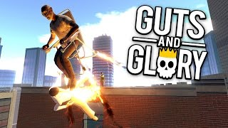 Guts and Glory - Rocket Chair Olympics! - Let's Play Guts and Glory Funny Moments Gameplay