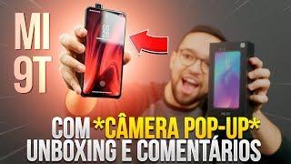 Mi 9T (Redmi K20) com CÂMERA POP-UP | A Xiaomi TÁ DEMAIS! unboxing e comentários