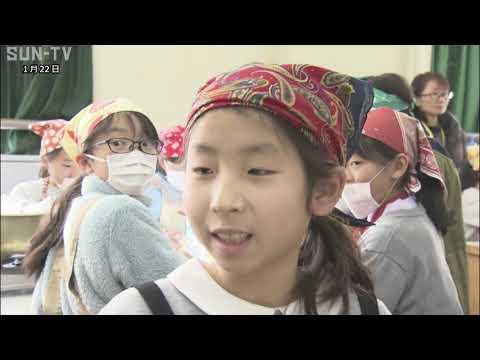 ポリ袋でご飯を炊く 西宮市の小学校で防災教室